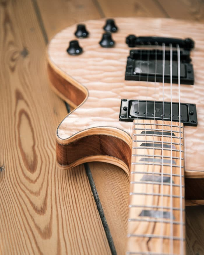 Guitare électrique - Gibson Les Paul - Luthier - Détail micros Benedetti
