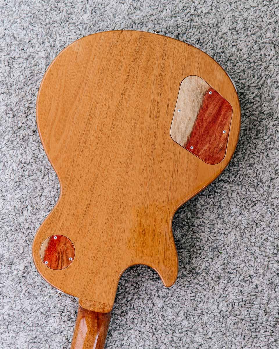 Guitare électrique - Gibson Les Paul - Luthier - Détail dos acajou