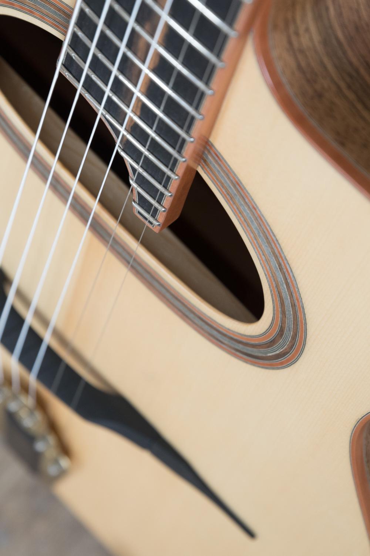 Guitare acoustique - Guitare jazz manouche - Vue de la rosace