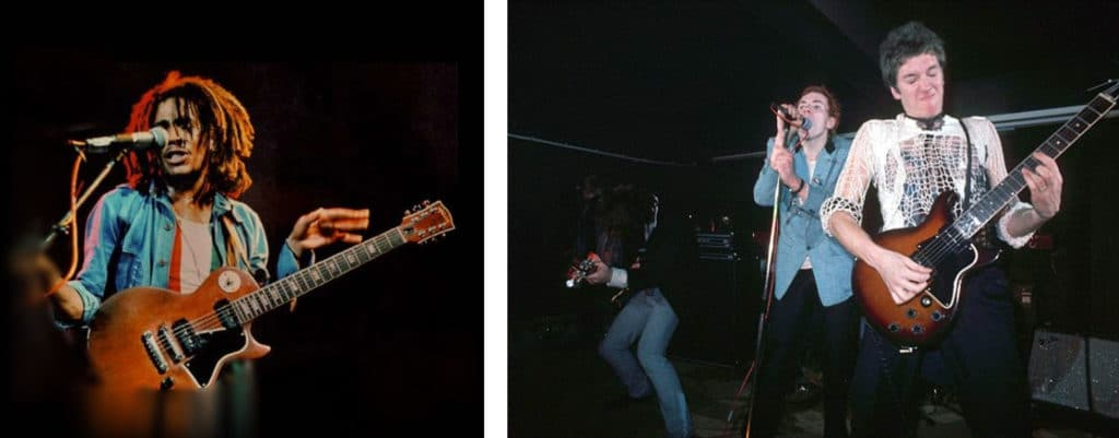 Bob Marley paying a twi pickup Special and Steve Jones with a Special
