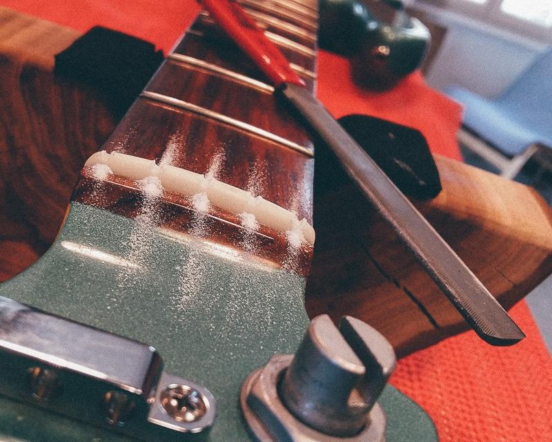 Réparation guitare électrique - Sillet